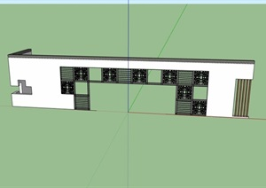 中式景墙门素材设计SU(草图大师)模型