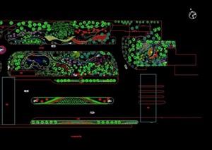 详细的公共绿地种植设计cad方案