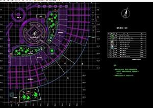 现代详细广场种植设计cad方案