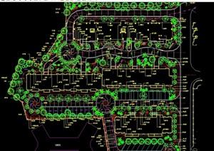 现代风格详细的完整小区种植设计cad方案