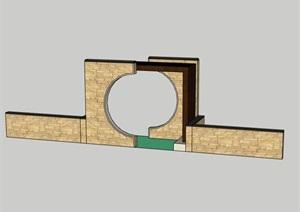 中式门、景观小门洞、门