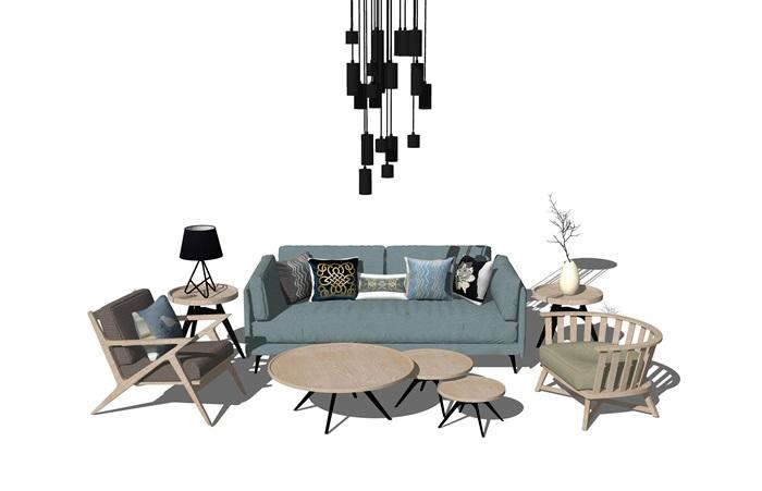 北欧风格室内客厅场景(1)