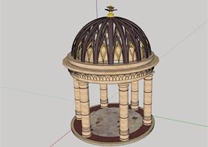欧式景观亭完整详细设计SU(草图大师)模型