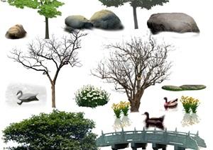 各類園林景觀后期制作素材ps