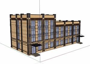 新古典风格多层办公建筑楼设计SU(草图大师)模型
