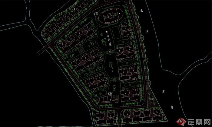 美的简岸住宅花园小区规划设计cad方案