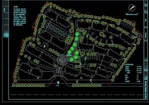 某现代风格详细的住宅小区景观设计cad方案