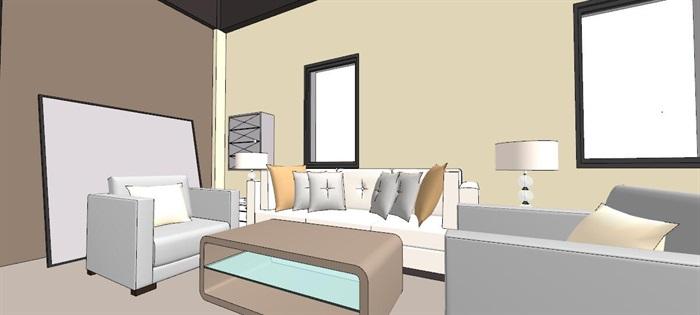现代轻奢简约休闲风两层咖啡馆咖啡厅休闲室(6)