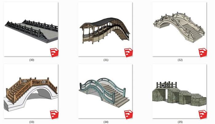 24款中式景观桥石桥木桥(2)