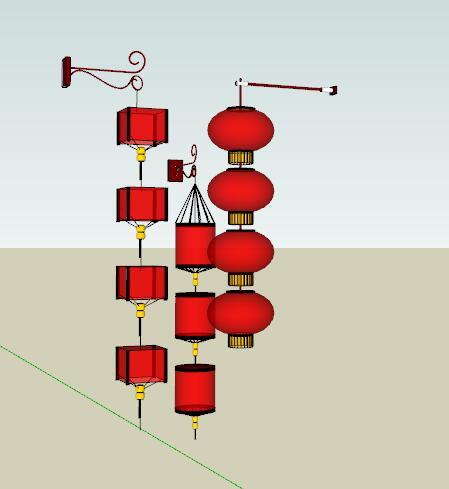 中式红灯笼商业街装饰灯具(3)