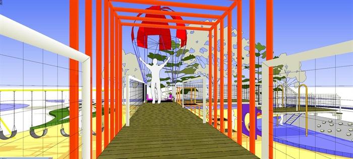 现代创意彩色儿童乐园儿童游乐园儿童活动场(1)