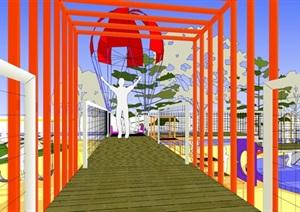 现代创意彩色儿童乐园儿童游乐园儿童活动场