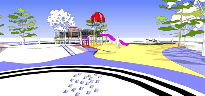 现代创意彩色儿童乐园儿童游乐园儿童活动场(4)