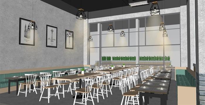 现代员工食堂饭堂学校食堂室内设计(2)