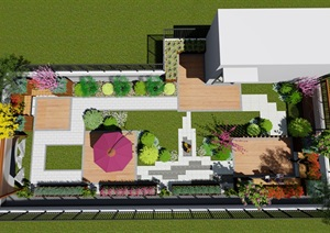 屋顶花园设计精品模型分享