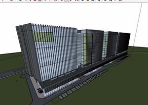 现代风格高层办公建筑楼设计SU(草图大师)模型