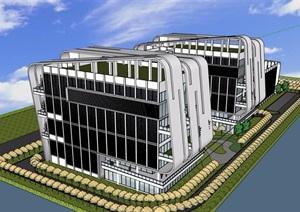 一个精神病院详细建筑设计SU(草图大师)模型