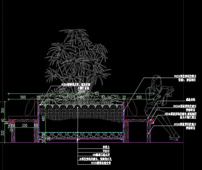 移动树穴坐凳详图(2)