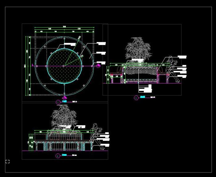 移动树穴坐凳详图(3)