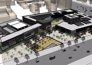 某详细的商业中心多层详细建筑设计SU(草图大师)模型