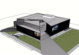 现代独特详细完整的商场建筑设计SU(草图大师)模型