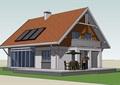 欧式风格详细的农村自建别墅su模型