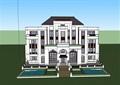 双拼欧式风格住宅别墅设计su模型