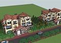 欧式风格详细的双拼小区别墅su模型