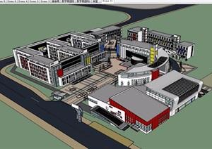 某中学建筑详细规划设计SU(草图大师)模型
