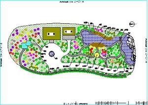 某詳細的別墅景觀綠化cad圖