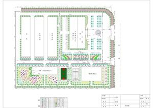 某厂区钻石科技绿化平面图