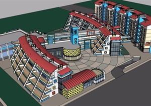 小学教育建筑详细完整建筑SU(草图大师)模型