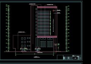 某现代风格详细的高层办公建筑楼cad施工图