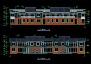 某欧式详细的完整联排别墅设计cad施工图