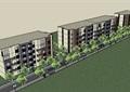 立面多层造型住宅楼设计su模型
