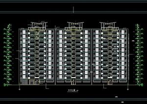 高层一梯4户住宅楼建筑设计cad方案