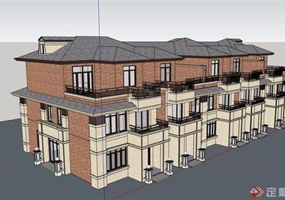 別墅建筑設計su模型