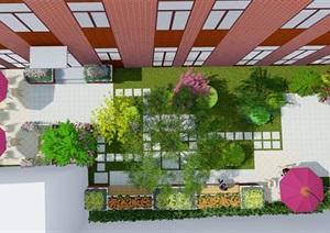 精致的中庭景观设计模型