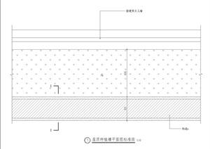 屋顶种植池景观设计施工图