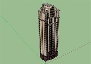 独栋高层住宅小区楼设计SU(草图大师)模型