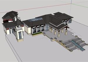 东南亚会所详细经典建筑设计SU(草图大师)模型