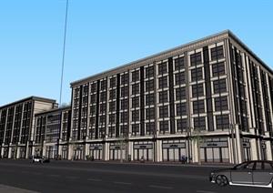某详细的多层星级酒店SU(草图大师)模型