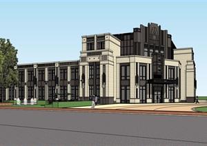 中锐售楼处详细完整建筑设计SU(草图大师)模型