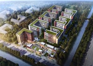 北京金地未未来 商业 SOHO模型及效果图