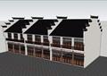 徽派中式风格详细的街边商业建筑设计su模型