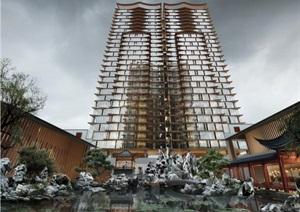 南京建发公寓设计SU(草图大师)模型
