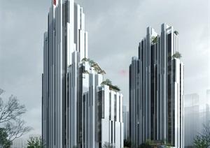 南京建发公寓设计方案二SU(草图大师)模型