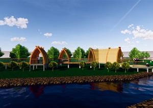 船型屋架空   构筑物设计