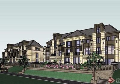 精致详细的完整住宅别墅设计su模型