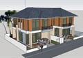 欧式风格详细的两层双拼别墅设计su模型